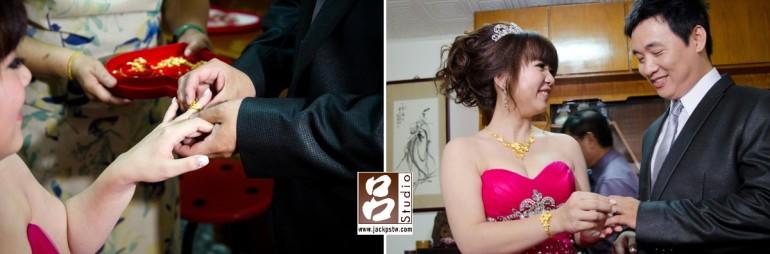 新郎新娘交換戒指