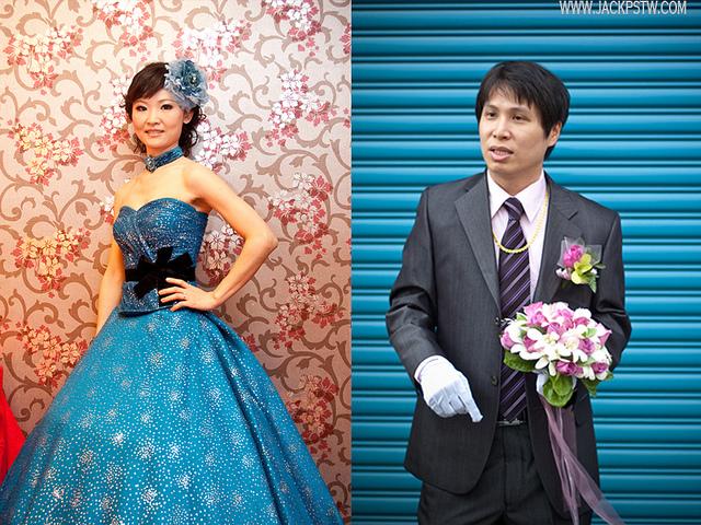 在婚禮儀式中的空檔拍攝擺拍類婚紗照