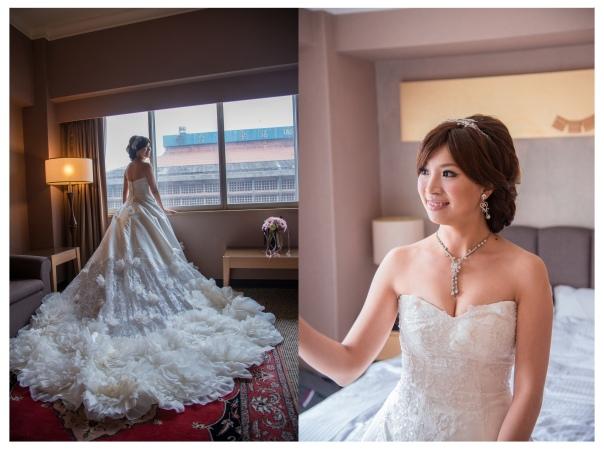 新娘tingting在新娘房內拍一些類婚紗