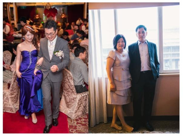 今天的結為夫婦的新人和父母親