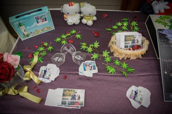 婚禮佈置:新郎的母親親手布置的