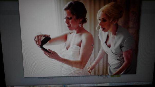 新娘的表情