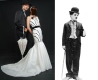 之前集團結婚被婚紗公司抓去拍形象照 查理·卓别林
