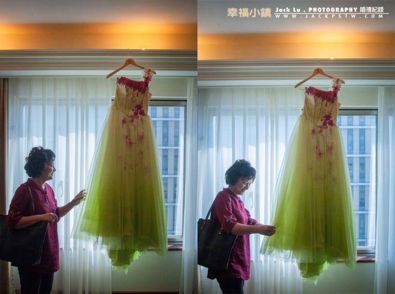 禮服掛的,媽媽自己過去,拍到的自然表情,如果換成伴娘也不錯看