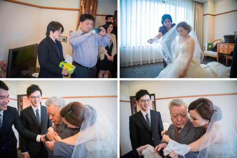新娘子抱住父親