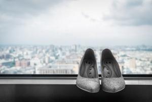 EA 銀色婚鞋