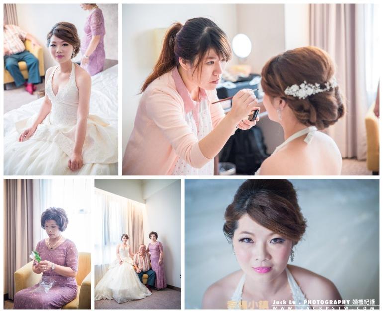 新娘在房屋內化妝,合照