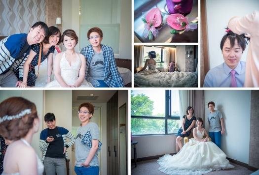 親朋好友來找新娘,新娘一直說新郎這個好可愛歐