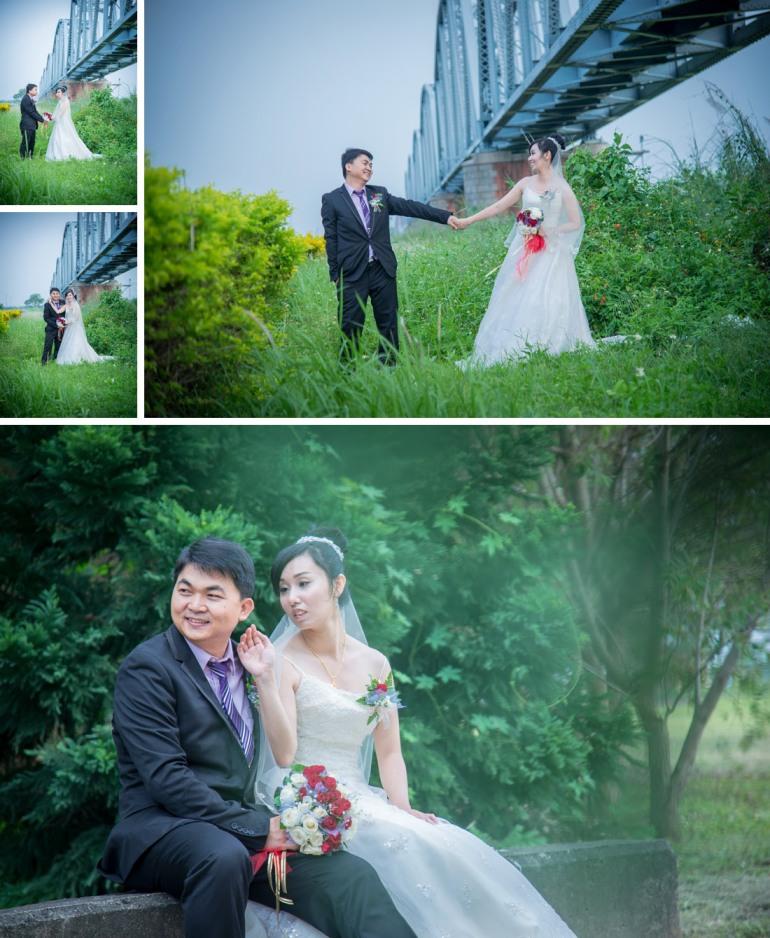 高雄舊鐵橋拍攝婚紗照