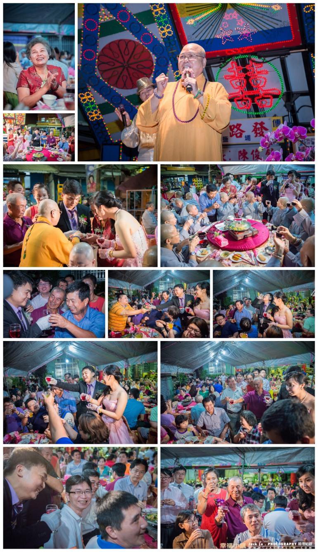 新娘的母親開心的表情, 敬酒畫面, 與賓客互動