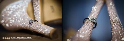 其實如果有時間的拿來拍婚戒配上有亮片婚鞋,是可拍出這樣效果
