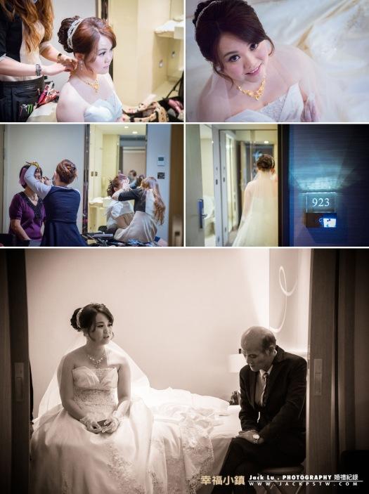 新娘化妝,比較可惜是新娘選到房間比較小, 當時闖關也比較擠點