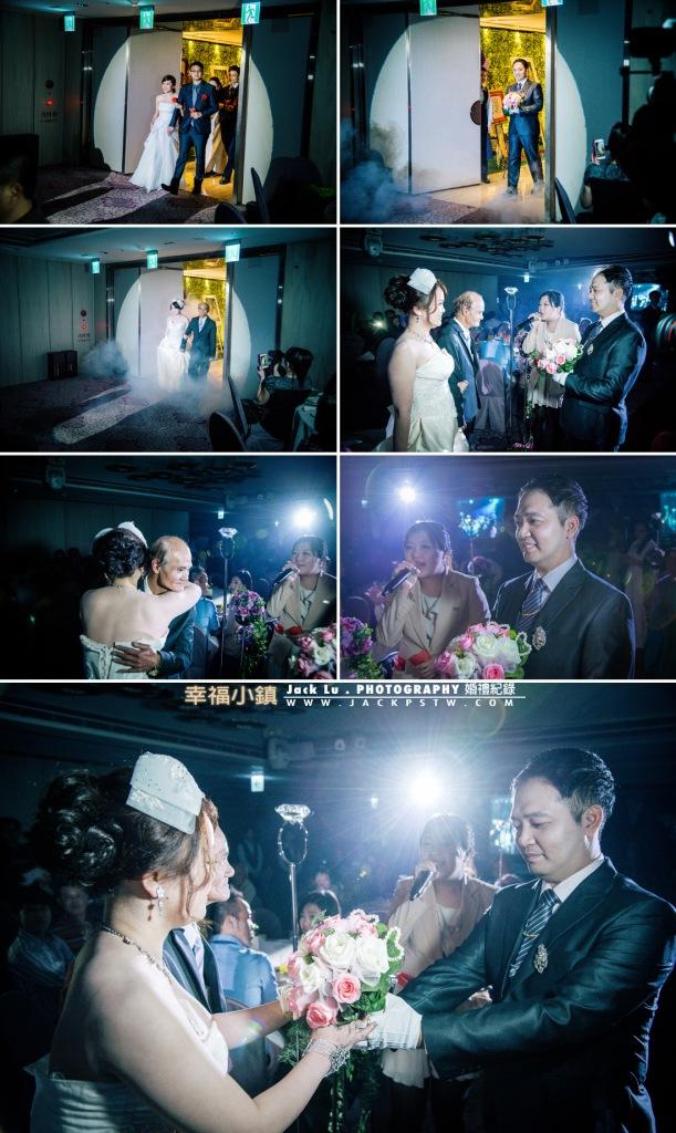 新人進場,父親把新娘交給新郎
