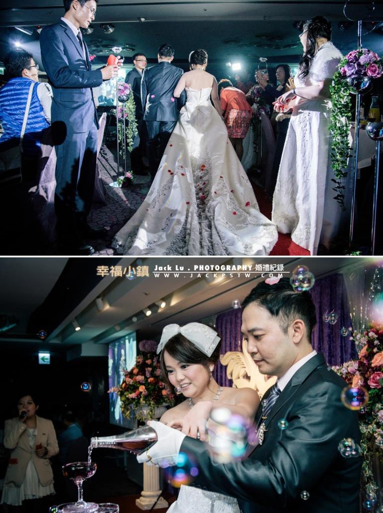 新娘的裙擺,在眾人祝福下進場