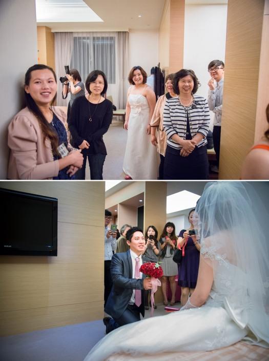 新娘的親友團,新郎有點不好意思