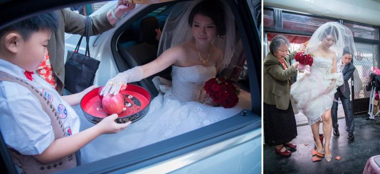新娘進家門,摸蘋果儀式