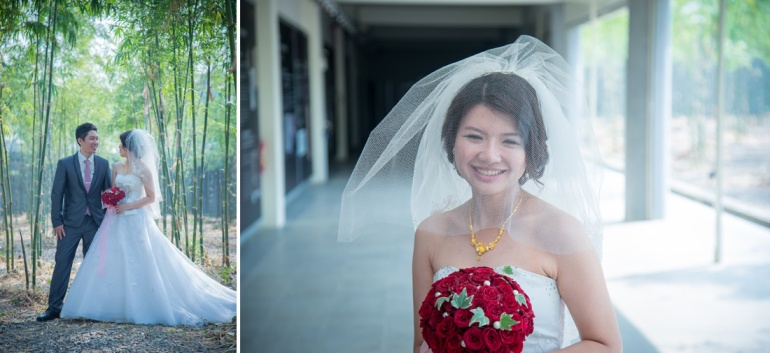 新娘白紗外拍照片