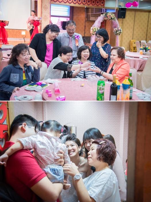 新娘父母的親友,難的聚在一起,