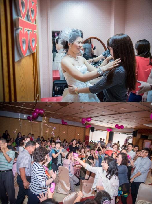 新娘與賓客的互動