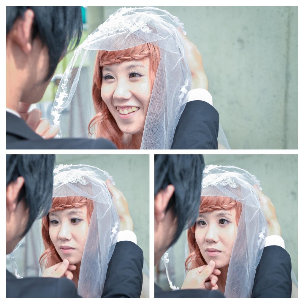 照片會說話, 新娘與新郎的眼神