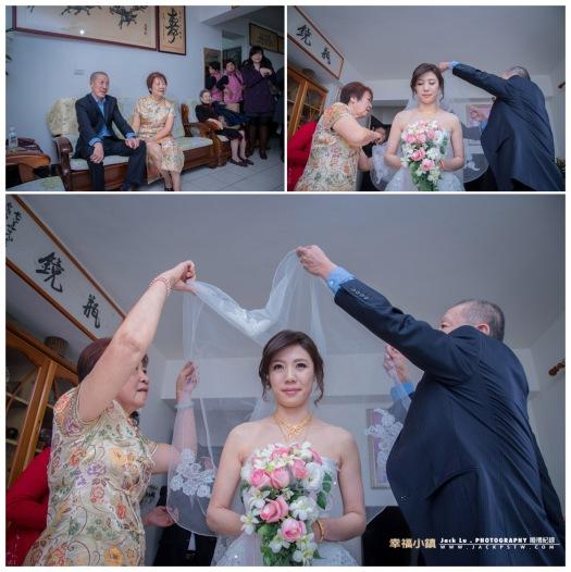 父母準備幫新娘子蓋頭紗