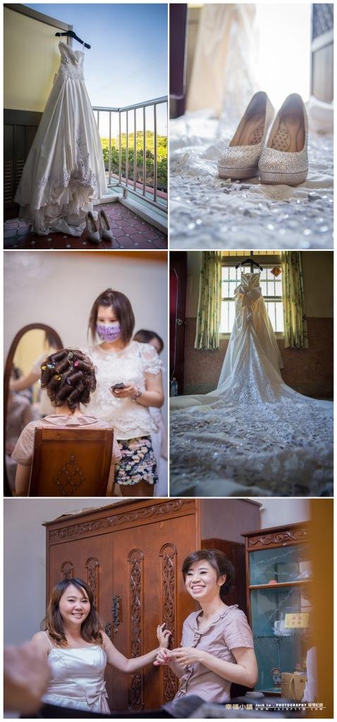 新娘子在自己住家準備化妝