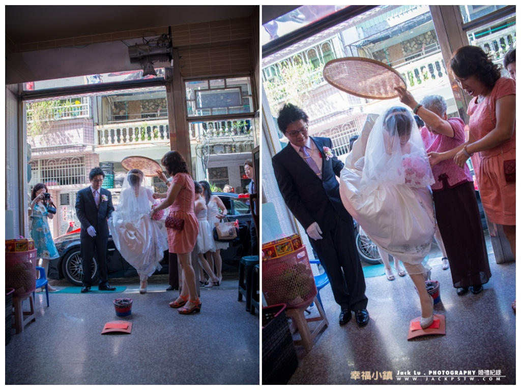 新娘進門過火爐踩破瓦片