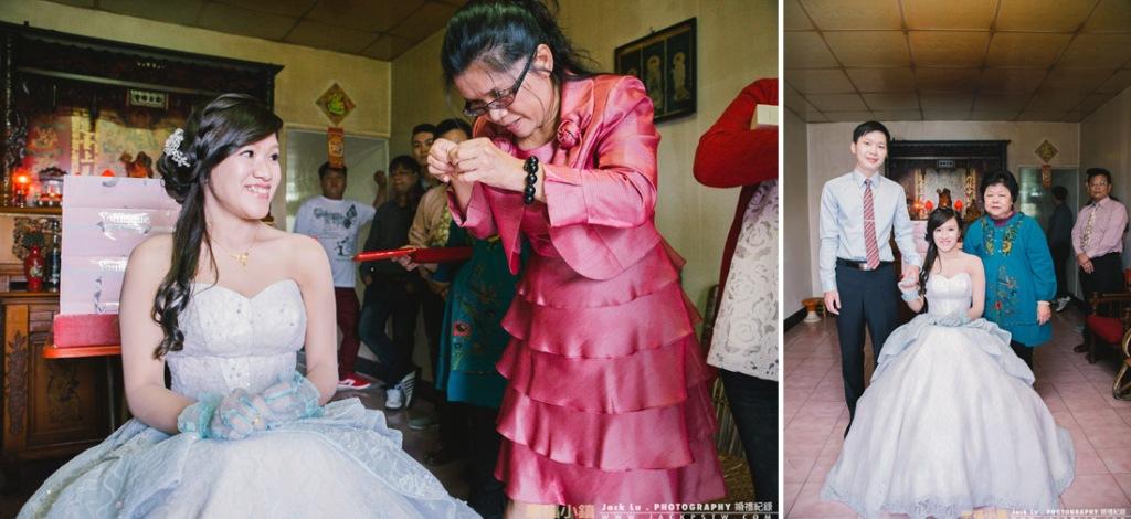 準婆婆替新娘戴上項鍊