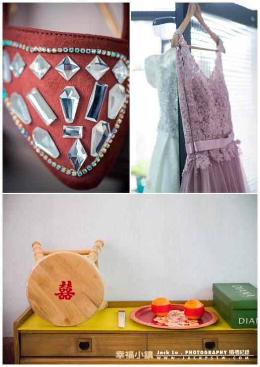 新娘的禮服和禮鞋
