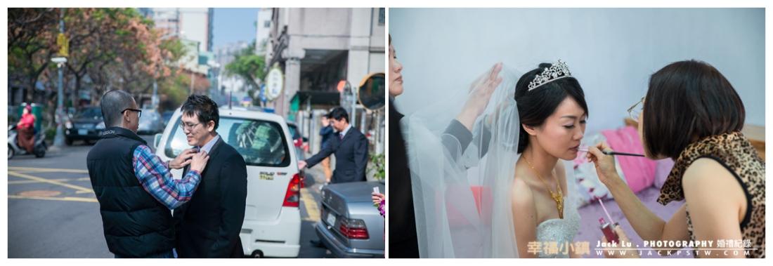新娘peggy 開始換上白紗
