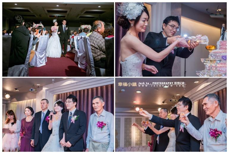 新婚新人進場敬酒