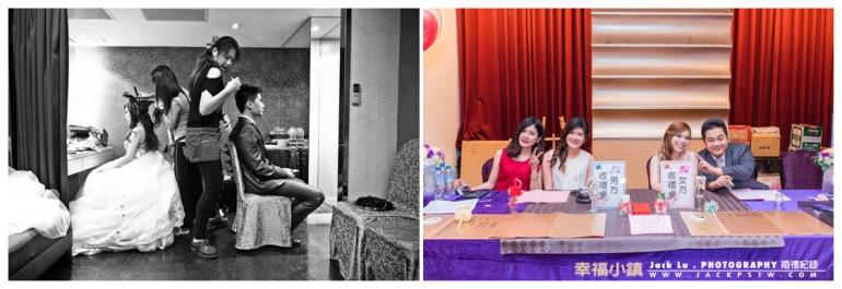 收禮金桌,和新娘化妝室