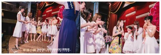 高雄-婚禮紀錄攝影師-婚宴喜宴-大八飯店-其中一位伴娘搶到捧花,被嚇到