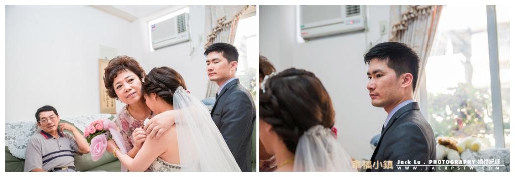 新娘子忍不注流下眼淚,媽媽看到不捨,新郎官也不捨