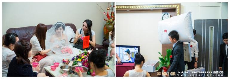 新娘與伴娘在客廳等待時辰好進房