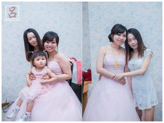 新娘子與小朋友,姐妹拍合照