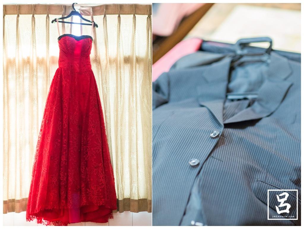新娘禮服和新郎的西裝