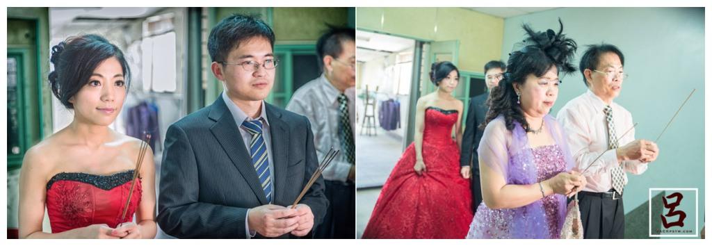 新娘一家人祭祖告訴祖先今天新娘子要文定