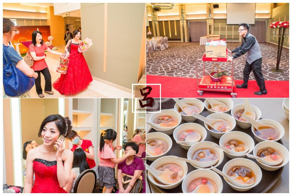 訂婚儀式在寒軒飯店,新娘忙東忙西