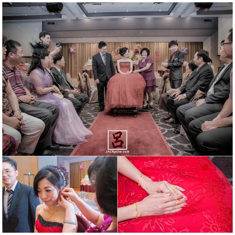 寒軒的領班主持這場訂婚儀式,靦腆的新娘