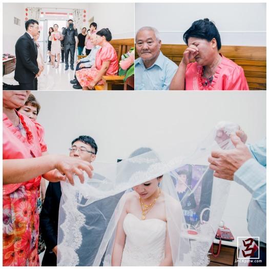 婚禮紀錄-迎娶喜宴-高雄圓山-迎娶拜別父母畫面