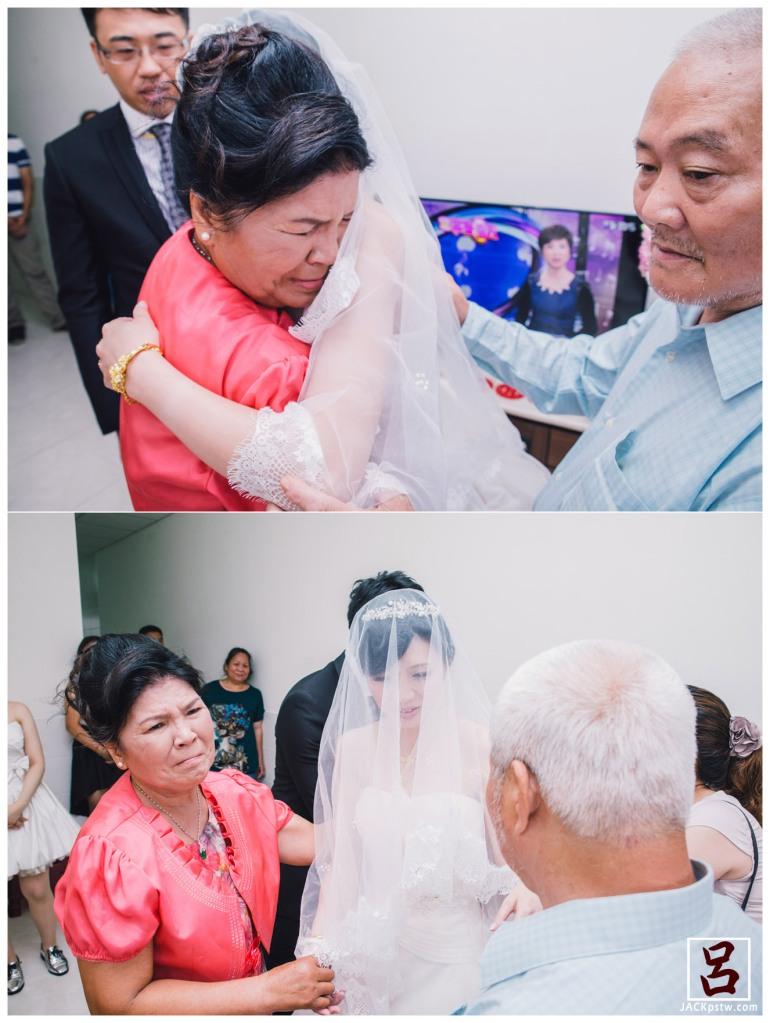 婚禮紀錄-迎娶喜宴-高雄圓山-新娘母親忍不掉淚