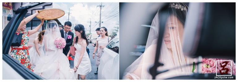 婚禮紀錄-迎娶喜宴-高雄圓山-lulu-新娘子上禮車