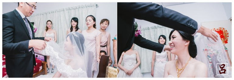 婚禮紀錄-迎娶喜宴-高雄圓山-lulu-掀新娘的頭紗