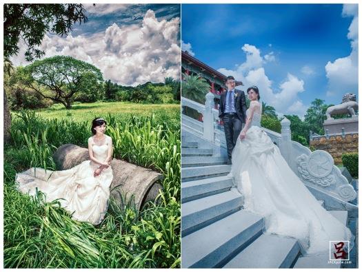 高雄圓山飯點前的階梯拍類婚紗照