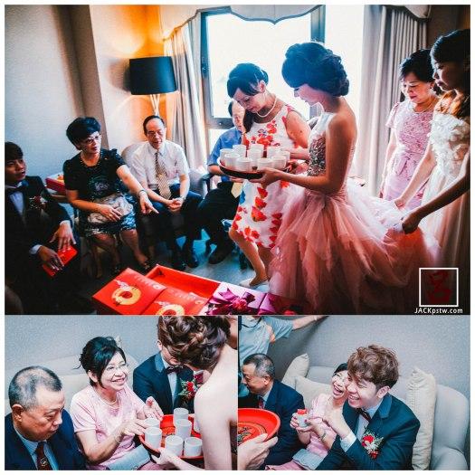 開始訂婚儀式,漂亮的新娘出場, 新郎看到老婆超開心