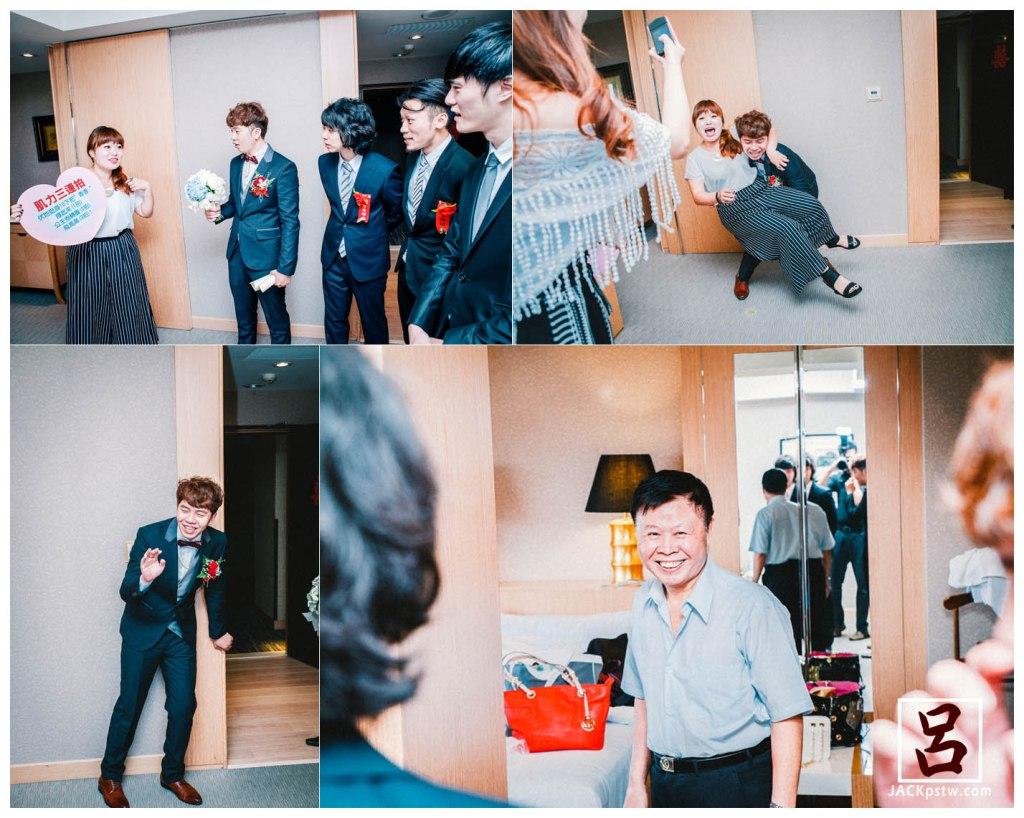 新郎與關主, 抱不起來, 新娘父親看的很開心