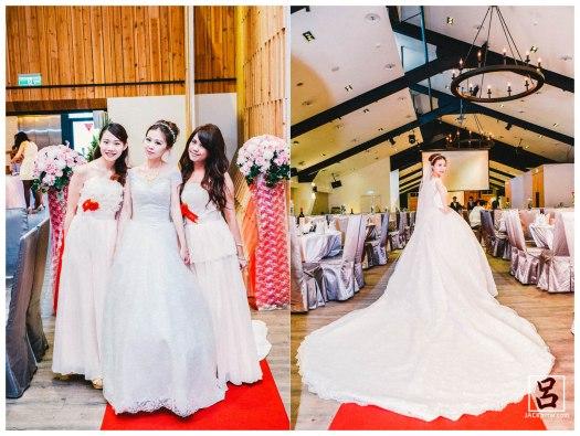 趁還在彩排拍幾張新娘的照片