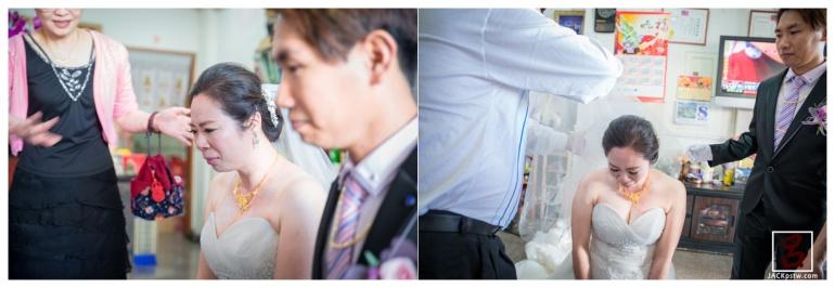 當新娘跪下,新娘就忍不住哭出來,讓我沒辦法馬上反應過來,太快了