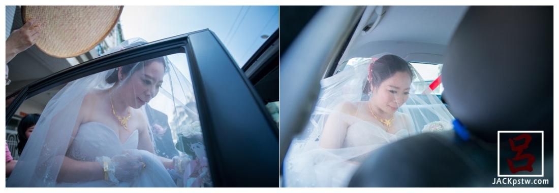 高雄婚禮拍攝-新娘上禮車
